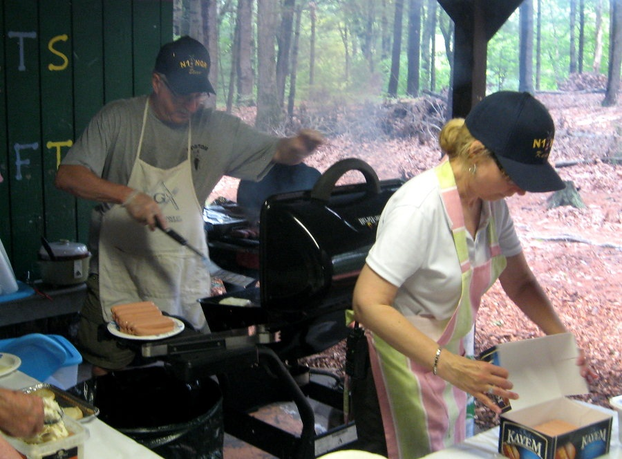 Cooking for the troops at the 2012 Field Day with N1VI
