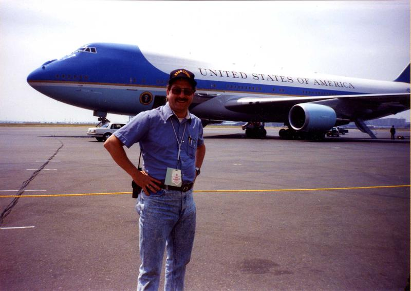 Air Force 1 in Boston with either Reagan or Bush 41. Who's the skinny kid? :-)