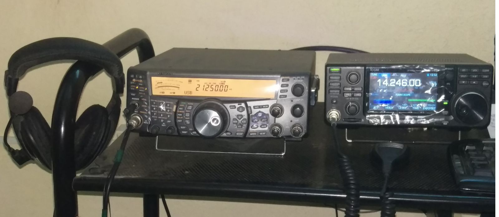 This is my Kenwood TS2000 and Icom IC 7300