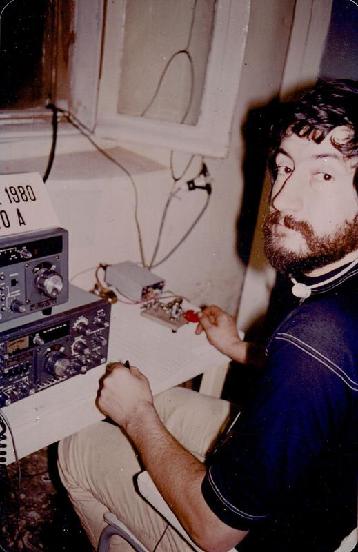 me (TU2IR) operating the CW part of J20/A 1n december 1980