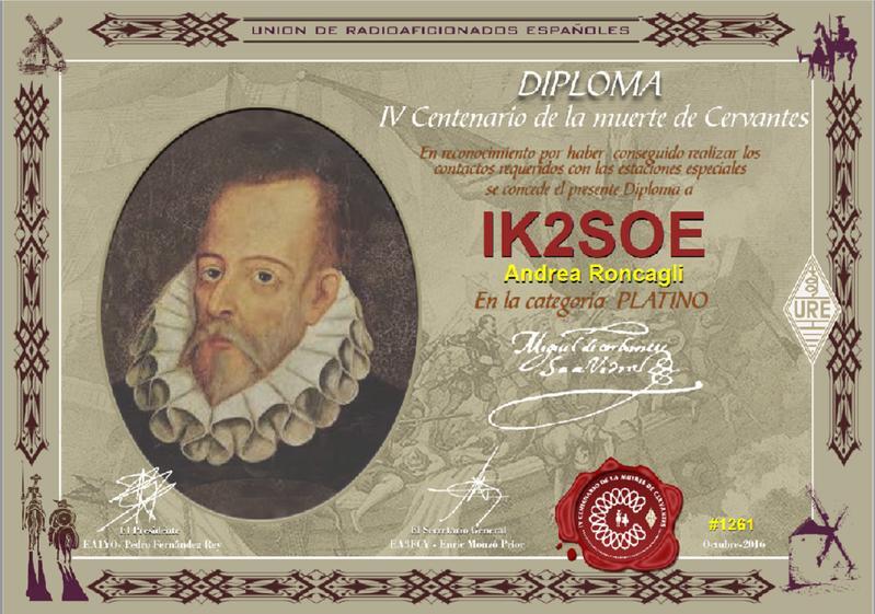 URE Cervantes PLATINUM Award