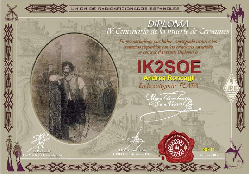 URE Cervantes SILVER Award