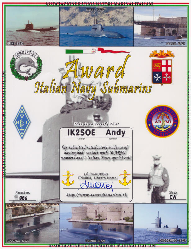 IT NAVY SUBMARINE AWARD