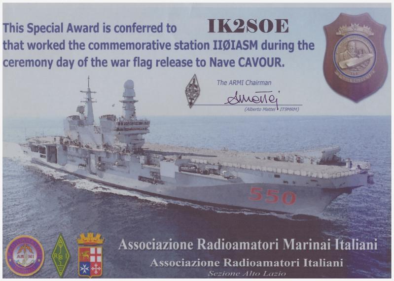 NAVE CAVOUR II0IASM AWARD