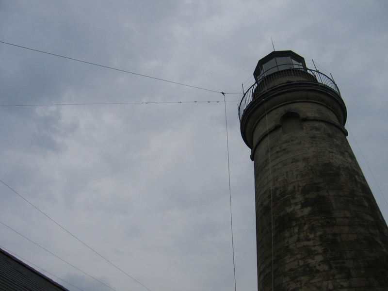 USA-279 Tower showing wire antennas