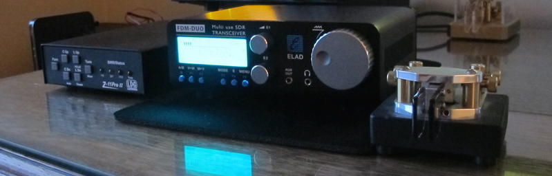 The FDM-DUO SDR QRP rig from Elad of Italy