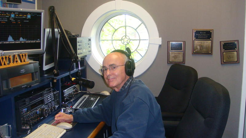 Ron operating W1AW at ARRL Headquarters