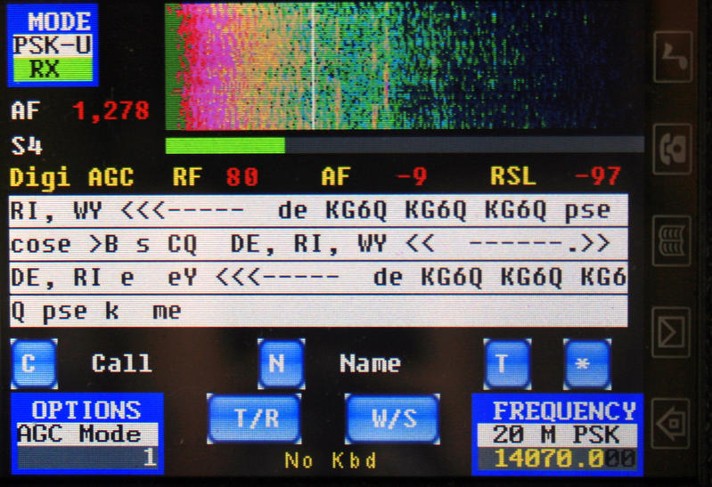 STM32-SDR in PSK operation