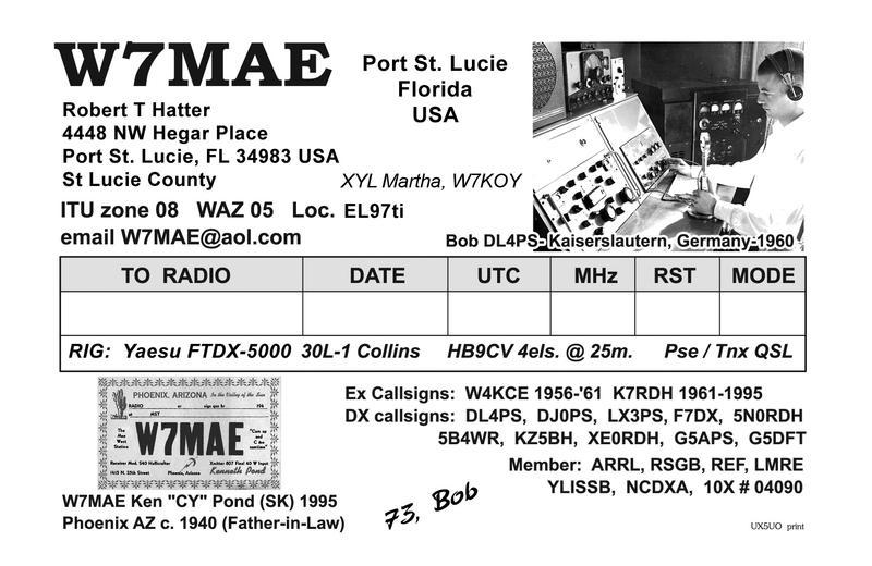 W7MAE - Callsign Lookup by QRZ Ham Radio