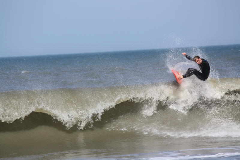 Surfer at Nags Head NC