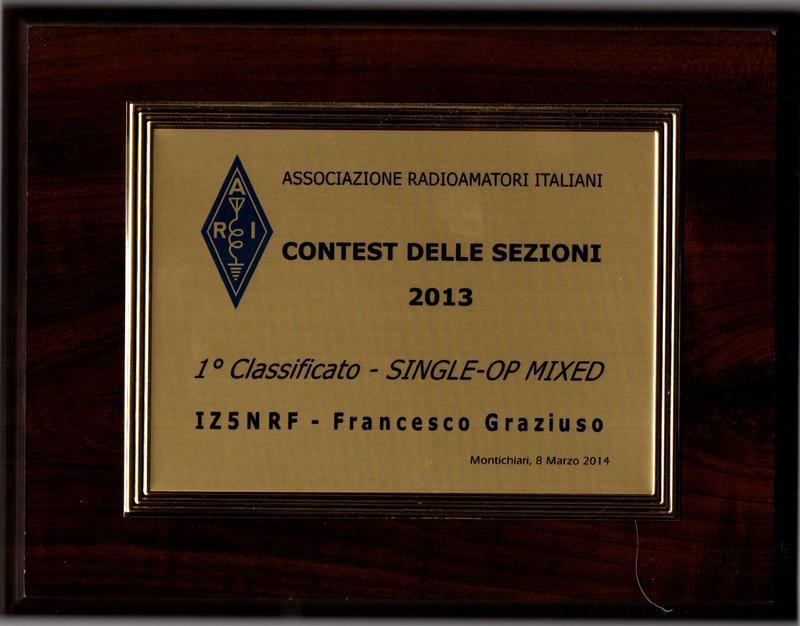 Contest sezioni 2013 1°