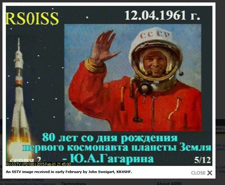 SSTV from ISS 2/21/2015 as seen in ARRL newsletter