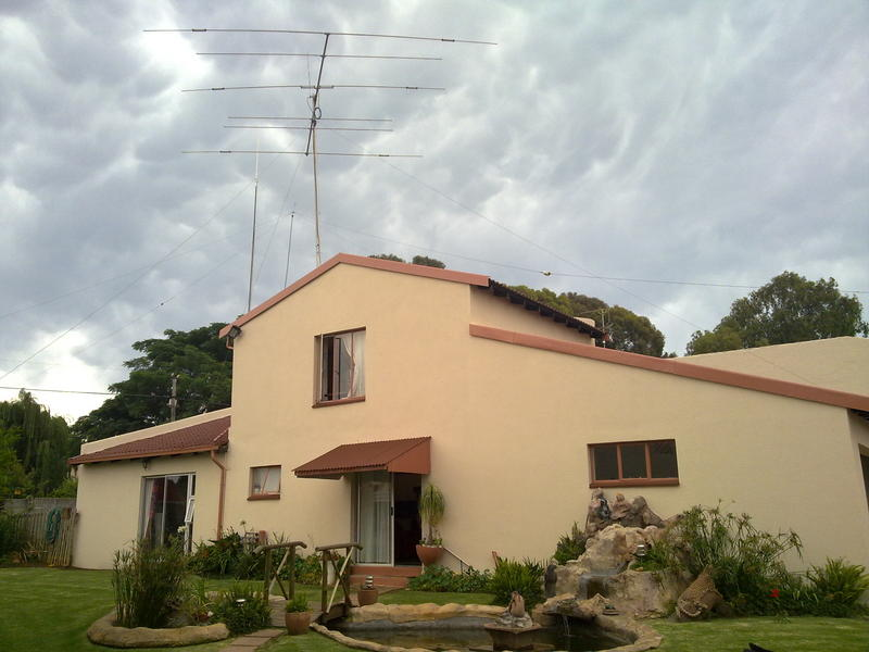 My antennas with house just repainted