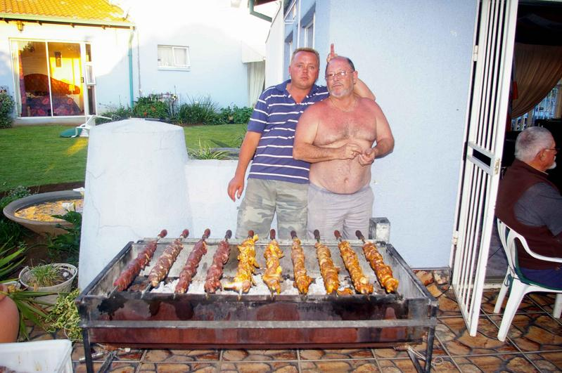 My son-in-law Frank and I with the Espitada spit