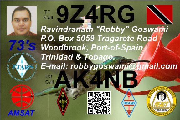 9Z4RG - Ravindranath Goswami - Trinidad and Tobago