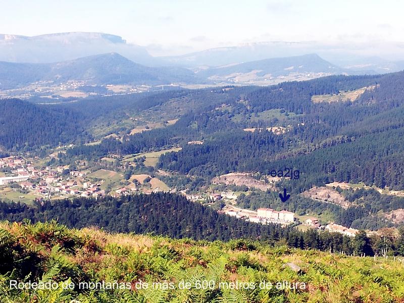 Luiaondo vista desde un monte de 600 metros de altua situado al este de mi QTH.