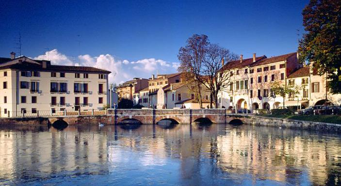 Treviso the University along the river Sile