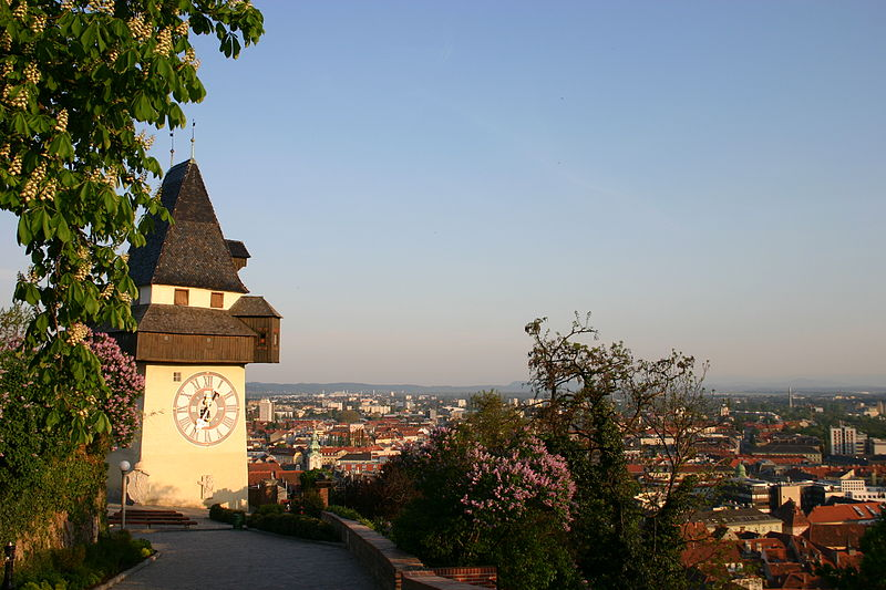 Grazer Uhrturm; The clock-tower in Graz