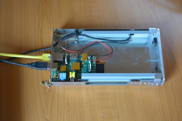 I-Gate with Raspberry Pi in an old harddisc case
