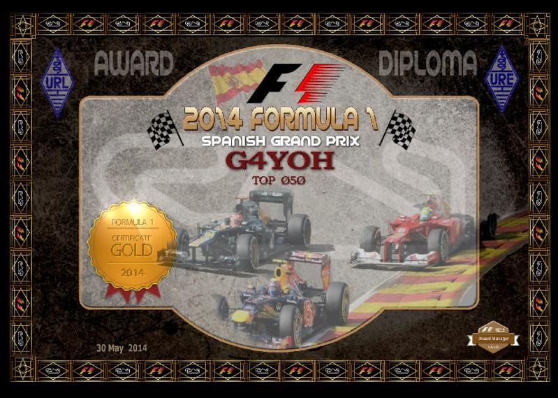 2014 Spanish GP Gold Award