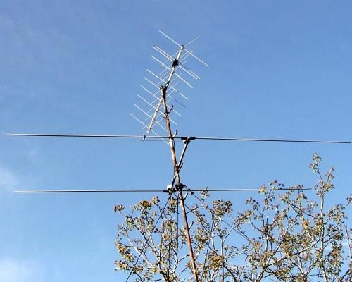 9ele crossyagi & HB9CV for satellite work