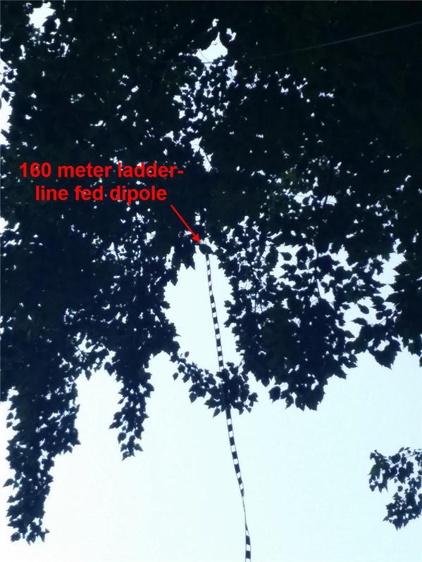 160m ladder-line fed dipole