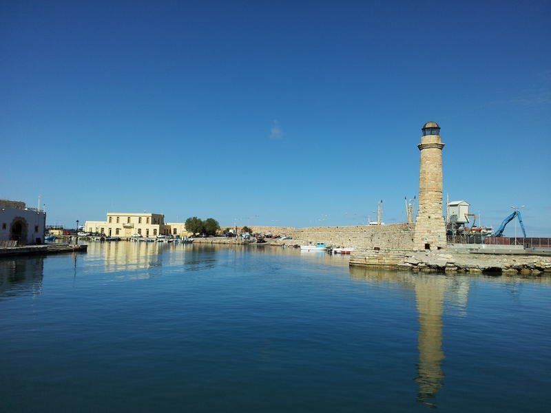 Old port of Rerhymno - Crete Is.