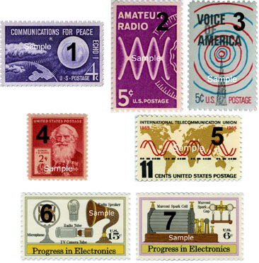 2015 KSQP Antique Radio Stamps