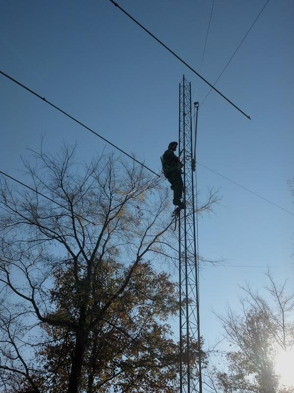 me hanging the new tower