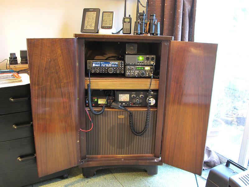 Shack in old TV cabinet!
