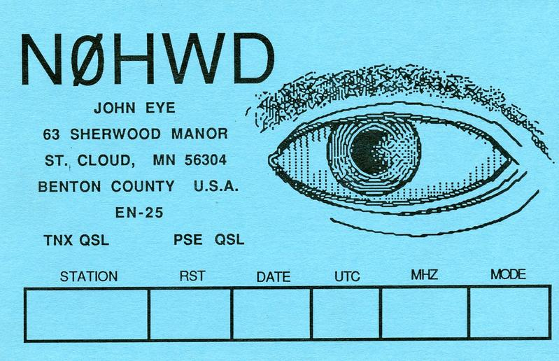 An old QSL card from the 80s