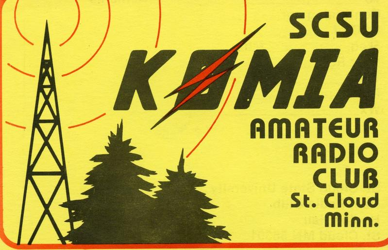 An old QSL card I used when I was attending St. Cloud State University