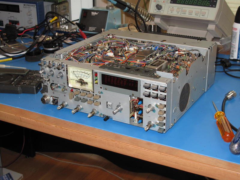 Here's what an IC-751A looks like naked!