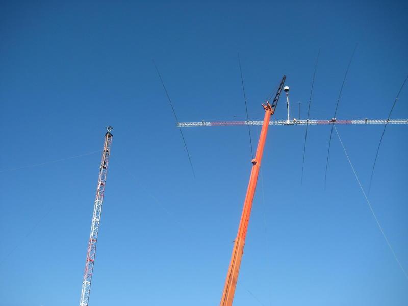 Installing 40m 5 element Beam