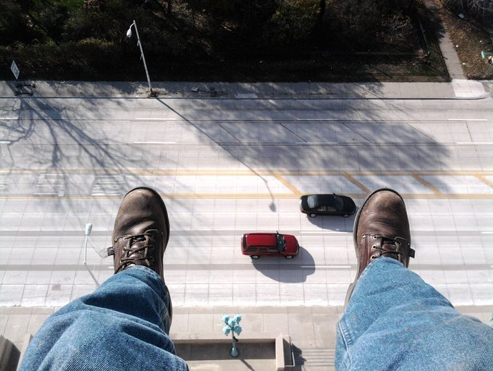 Just Hanging out on the roof in Downtown Detroit....