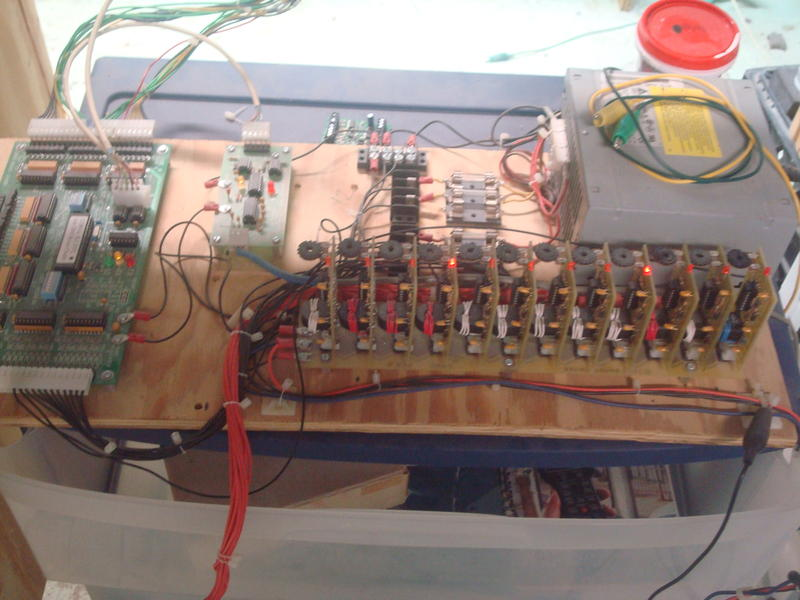 logic controller, track circuits, power supply