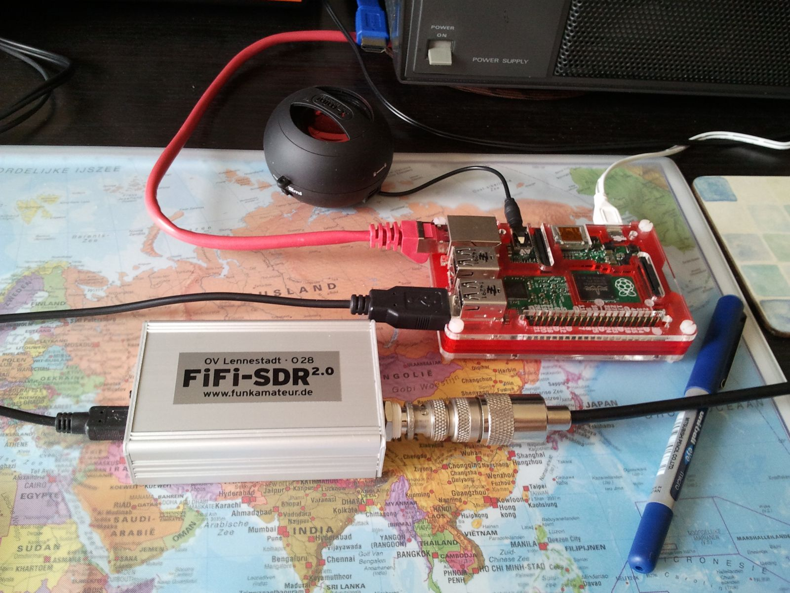 SDR with Raspberry Pi 2 for QRSS and WSPR RX.