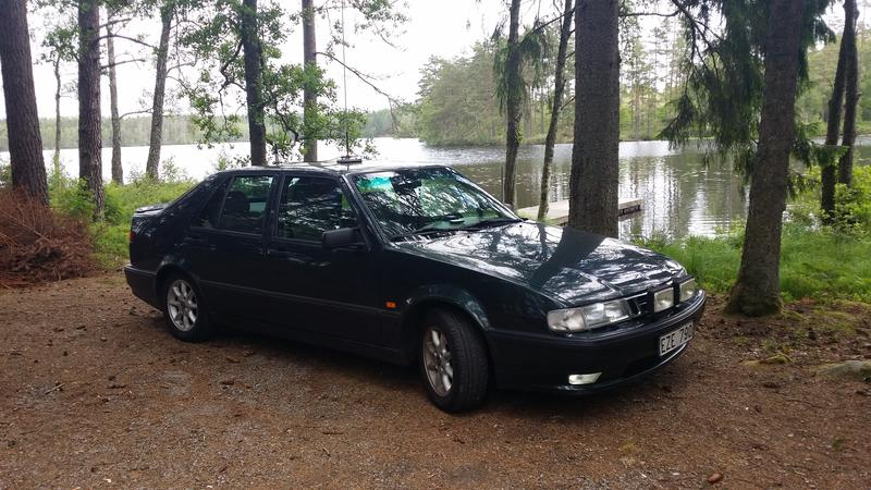 My car at a lake when I was mobile DX-ing.
