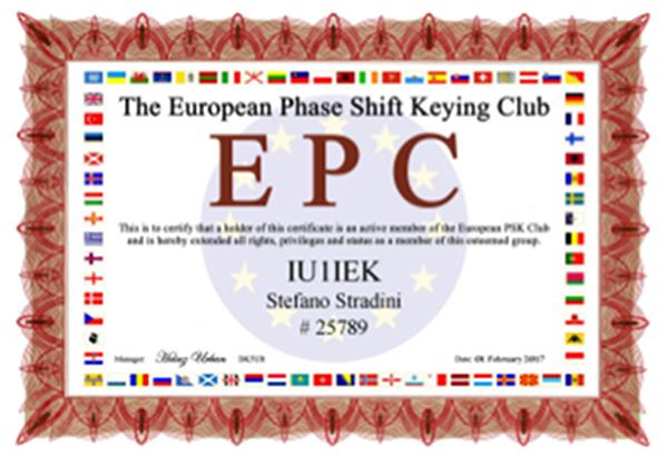 IU1IEK EPC# 25789