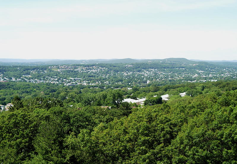 A view of the Passaic Valley from the top of my 80' tower