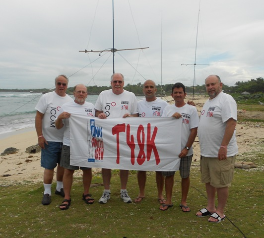 T48K team during SSB CQ WW 2016 Contest. Left to right: W2DLT, K1XX, K1MM, CO8ZZ, CO8DM and K1EP.