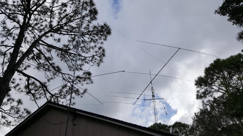 w4afk callsign lookup by qrz com remote base gap titan dx to the left and 5 element 17m beam to the right