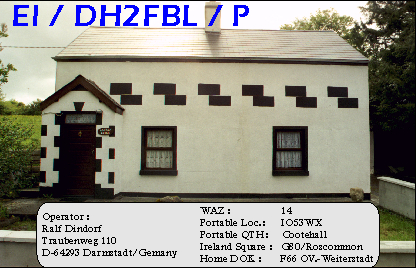 Holiday QSL from Ireland