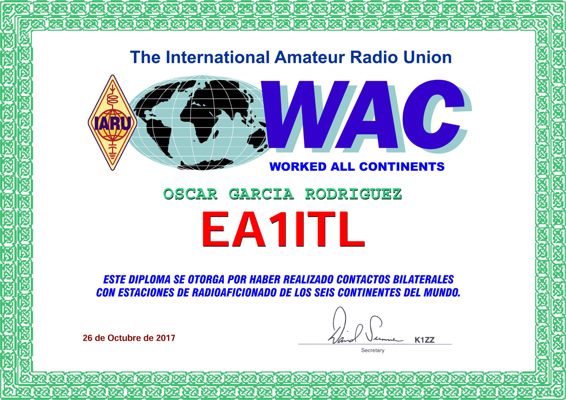 Diploma Contactos Bilaterales 6 Continentes