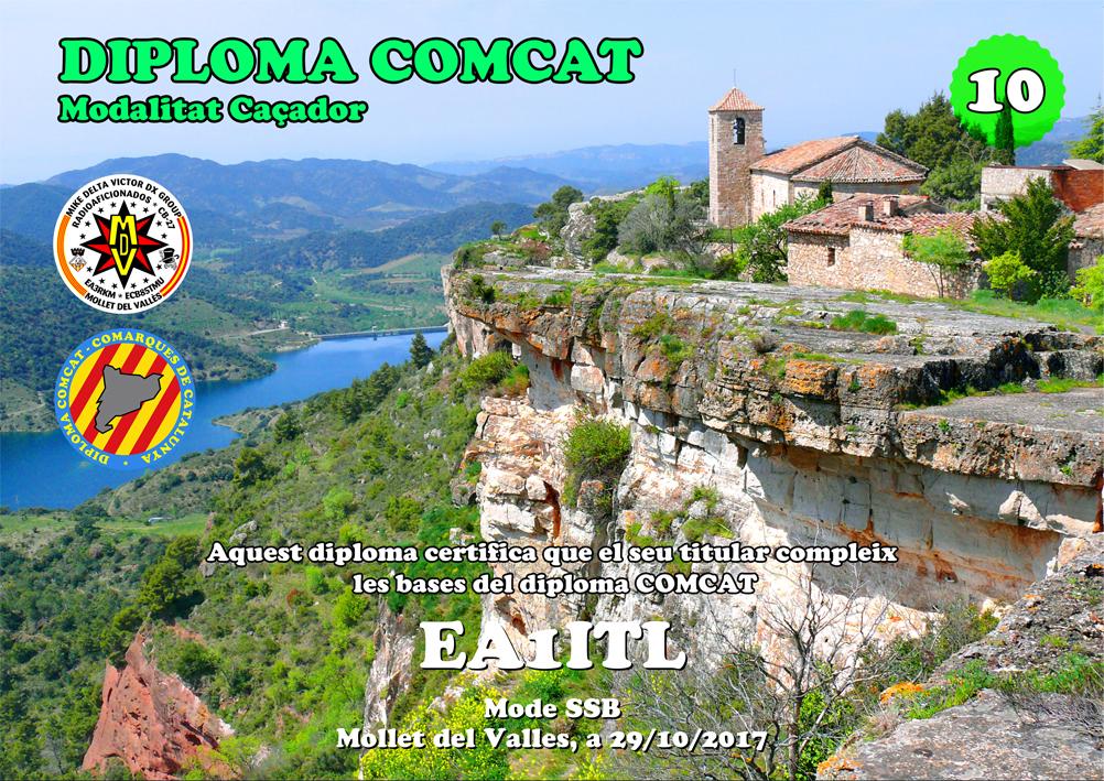Diploma COMCAT 10 contactos