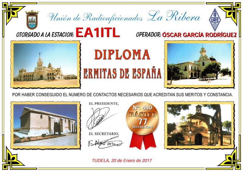 Diploma Básico Ermitas de España