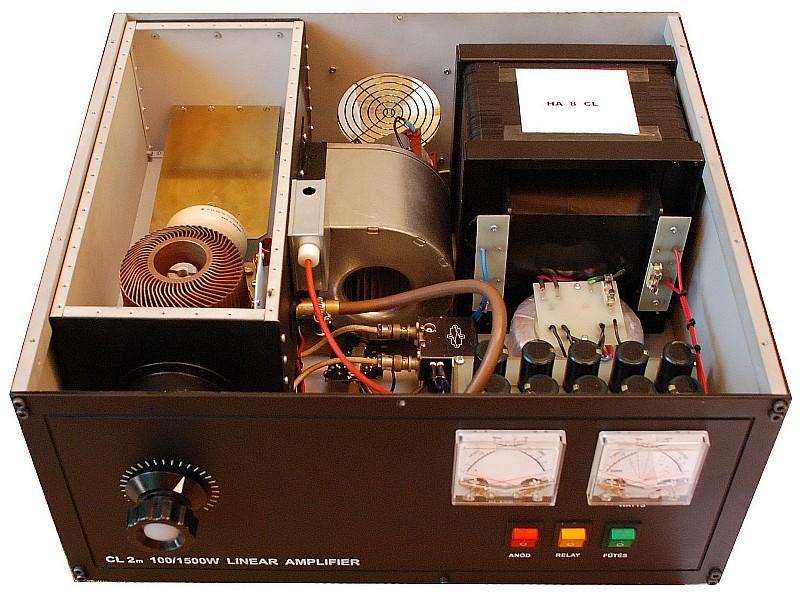 HA8CL homebrew 2m 100/1500W linear amplifier - Prize-winner of HAM-construction Contest Mako, 2008