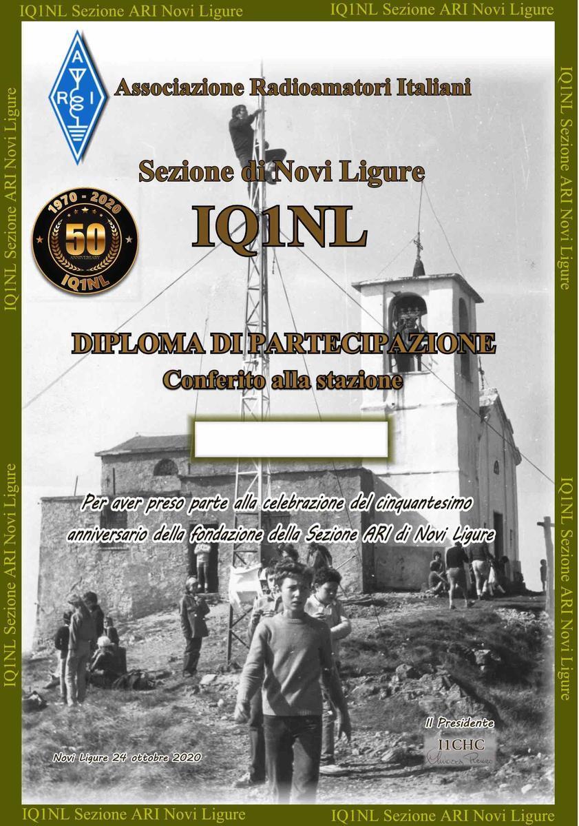 IQ1NL per i 50 anni di ARI-Novi Ligure