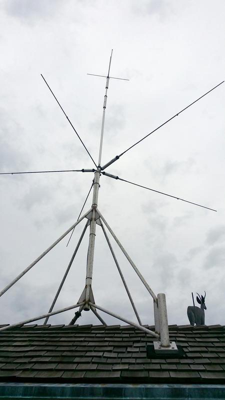 HF Antenna Diamond CP5H Five Trap Vertical