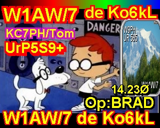 I was very lucky to work w1aw/7 running sstv and not voice on sstv channel